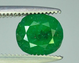 1.10 ct Natural Vivid Green Color Emerald~Swat