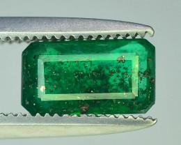 0.85 ct Natural Vivid Green Color Emerald~Swat
