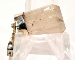 33mm 26ct Kunzite Crystal in Sterling Silver Pendant Afghanistan KPS-PP1-35