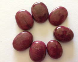Certified Natural Ruby Cabs. 111.95 TCW.