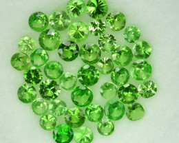 2.00mm ROUND TOP EXQUISITE AA+ GREEN COLOR 100% NATURAL TSAVORITE GARNET PA