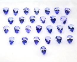 EXCEPTIONAL BRIGHT PURPLE BLUE TANZANITE 2.15Ct PEAR CUT
