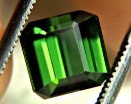 2.52 Carat Flashy Green Nigerian VVS Tourmaline - Gorgeous