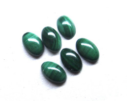 1.91cts Natural Malachite Cabochons