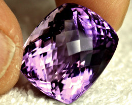 29.17 Carat Cushion Cut VVS/VS Brazil Amethyst - Gorgeous