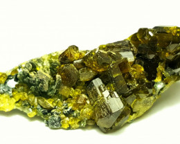 Damage free Epidote combine with Diopside have good luster 72 Cts - Afghan
