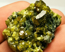Beautiful Cluster of Epidote combine with Diopside 98Cts - Afghanistan