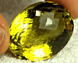 CERTIFIED - 98.9 Carat African VVS Lemon Quartz - Gorgeous