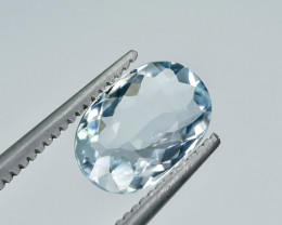 1.30 Crt Natural Aquamarine Faceted Gemstone.( AG 4)