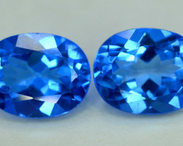 S#31-59 , NR 6.50 cts Electric Blue Topaz Gemstones Pair