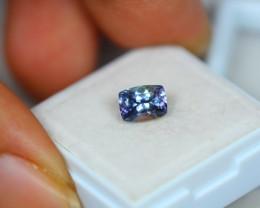 1.44Ct Greenish Violet Blue Tanzanite Cushion Cut Lot LZ1861