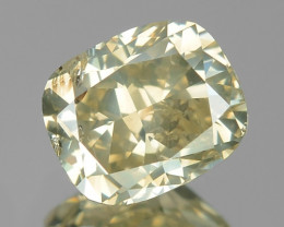 0.71 Cts UNTREATED NATURAL FANCY YELLOWISH GRAY COLOR LOOSE DIAMOND