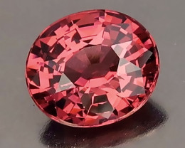 Superb Pink Red Malaya Garnet VVS Stunning gem Oval cut 1.43cts