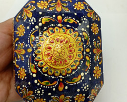 9099 Carats GENUINE SAPPHIRE WITH HAND PAINTED ART ON IT . $5000 Gem