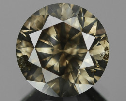 2.44 Cts UNTREATED NATURAL FANCY DEEP GRAYISH YELLOW COLOR LOOSE DIAMOND