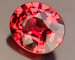 Superb Orange Pink Malaya Garnet VVS Stunning gem Oval cut 1.51cts