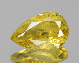0.54 Cts UNTREATED NATURAL FANCY INTENSE YELLOW COLOR LOOSE DIAMOND