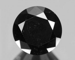 DIAMOND 3.08 Cts RARE FANCY DEEP NATURAL JET BLACK
