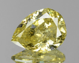 1.00 Cts UNTREATED NATURAL FANCY GREENISH YELLOW COLOR LOOSE DIAMOND