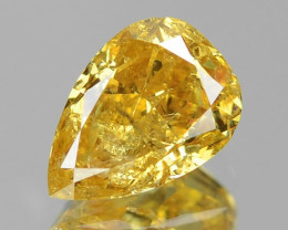 0.81 Cts UNTREATED NATURAL FANCY ORANGE YELLOW COLOR LOOSE DIAMOND