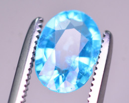 AAA Quality 1.00 Ct Neon Blue Color Natural Apatite