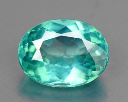 1.04 CTS BLUE GREEN COLOR NATURAL APATITE GEMSTONE