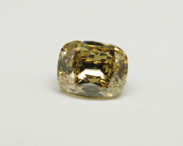 Natural Fancy brownish Yellow Diamond IGI certified