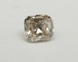 Natural Very Light Brown  Diamond GIA certified