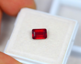 1.51ct Blood Red Color Ruby Composite Octagon Cut Lot V3362