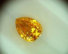 0.47ct Fancy intense Orange Yellow  Diamond , 100% Natural Untreated