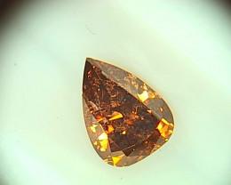 0.46ct Fancy Dark Pink Brown  Diamond , 100% Natural Untreated