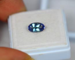 1.21ct Greenish Violet Blue Tanzanite Oval Cut Lot GW3190
