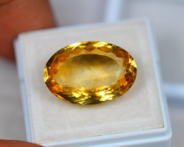 13.62ct Yellow Citrine Oval Cut Lot GW3191