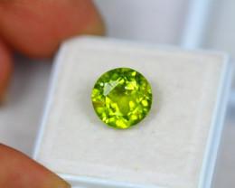 4.84Ct Green Peridot Round Cut Lot LZ1872