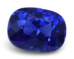 1.32 ct Cushion Blue Sapphire IGI Certified