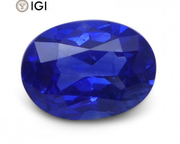 1.11 ct Oval Blue Sapphire IGI Certified