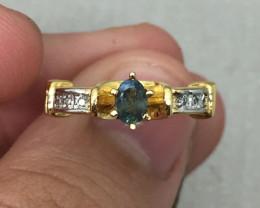 (B1) Brilliant $1350 Geniune Nat 0.36ct. Alexandrite Ring 10K YG