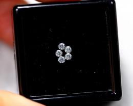 1.30mm Natural H Colour VS Loose Diamond 5pcs Lot
