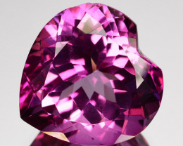 ~BEAUTIFUL~ 11.73 Cts Candy Pink Topaz Heart Cut Brazil ~LOVELY~