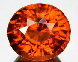 1.99 Cts Natural Cinnamon Orange Hessonite Garnet Oval Cut Sri Lanka