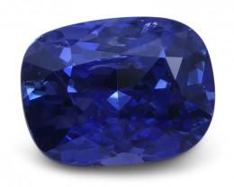 1.63 ct Cushion Blue Sapphire IGI Certified