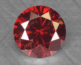 Natural Cognac Red Diamond 0.08 Cts Round Africa