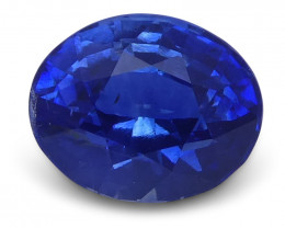 1.12 ct Oval Blue Sapphire IGI Certified Unheated