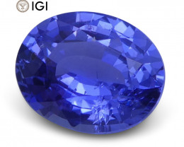 1.31 ct Oval Blue Sapphire IGI Certified Unheated