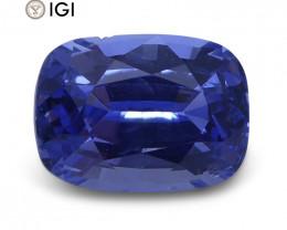 1.52 ct Cushion Blue Sapphire IGI Certified Unheated