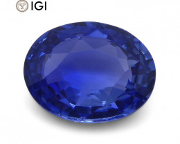 1.07 ct Oval Blue Sapphire IGI Certified Unheated