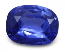 0.94 ct Cushion Blue Sapphire IGI Certified Unheated