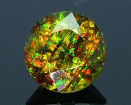 Rare AAA Fire 3.45 ct Chrome Green Sphene Sku-32