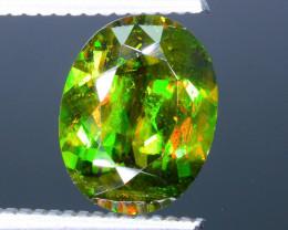 Rare AAA Fire 3.59 ct Chrome Green Sphene Sku-32