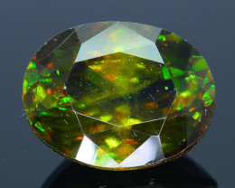 Rare AAA Fire 4.85 ct Chrome Green Sphene Sku-32